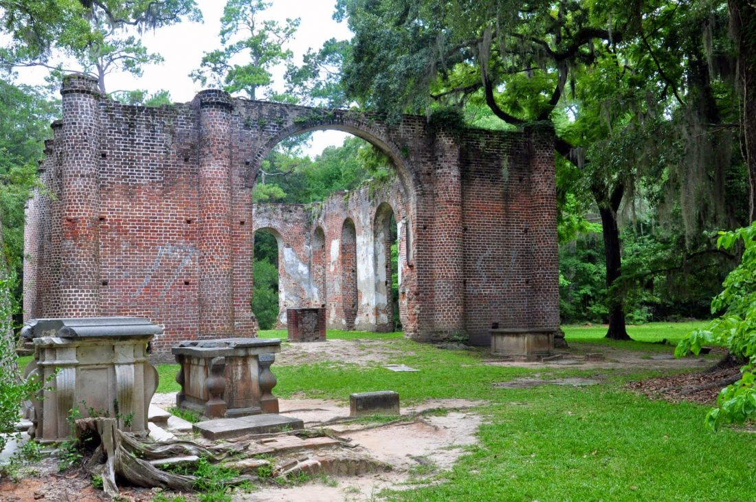SOUTH CAROLINA : OLD SHELDON CHURCH RUINS