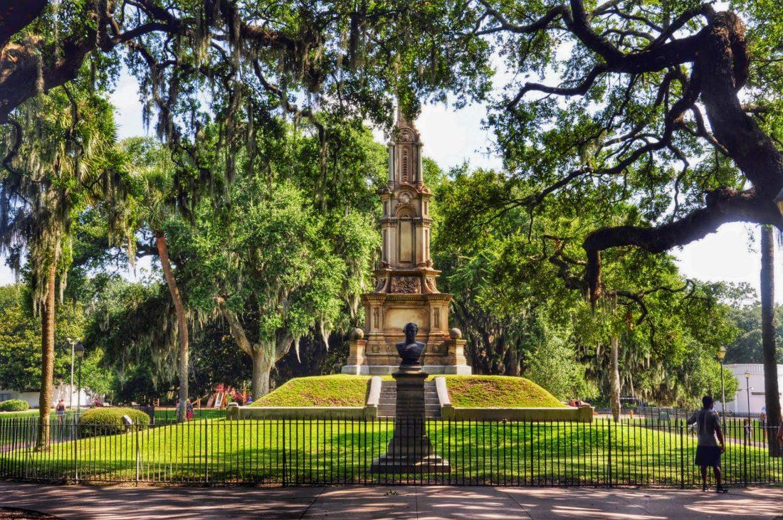 GEORGIA : Savannah Confederate memorial in Forsyth Park