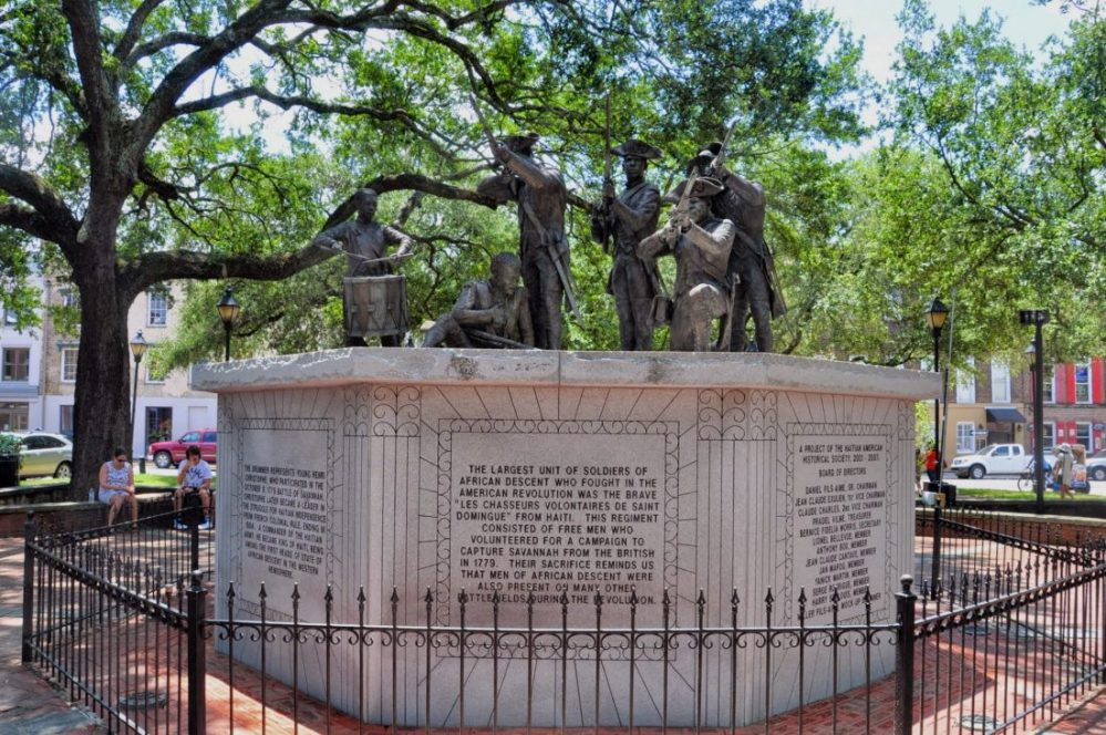 GEORGIA : Savannah's Haitian Monument (Franklin Square)