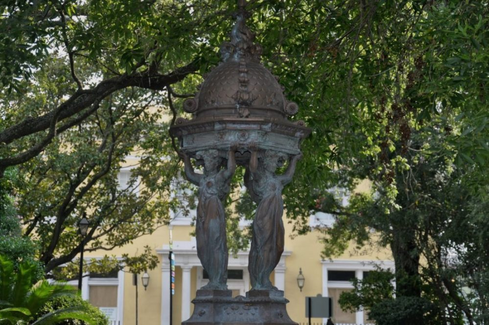 New Orleans: Wallace Fountain (Made in Haute Marne - France)
