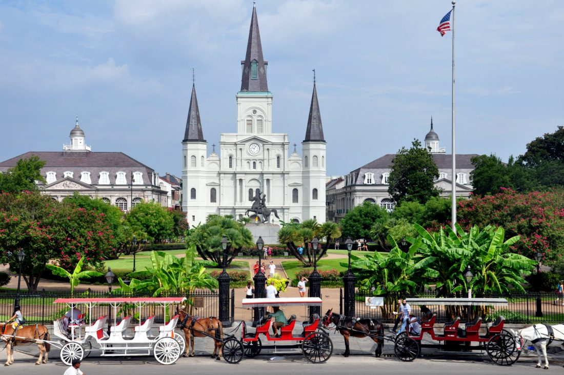 New Orleans : Cathedrale st Louis