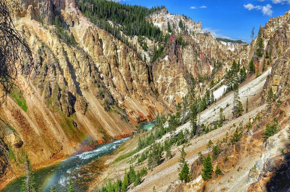 Yellowstone : canyon : Uncle Tom's trail