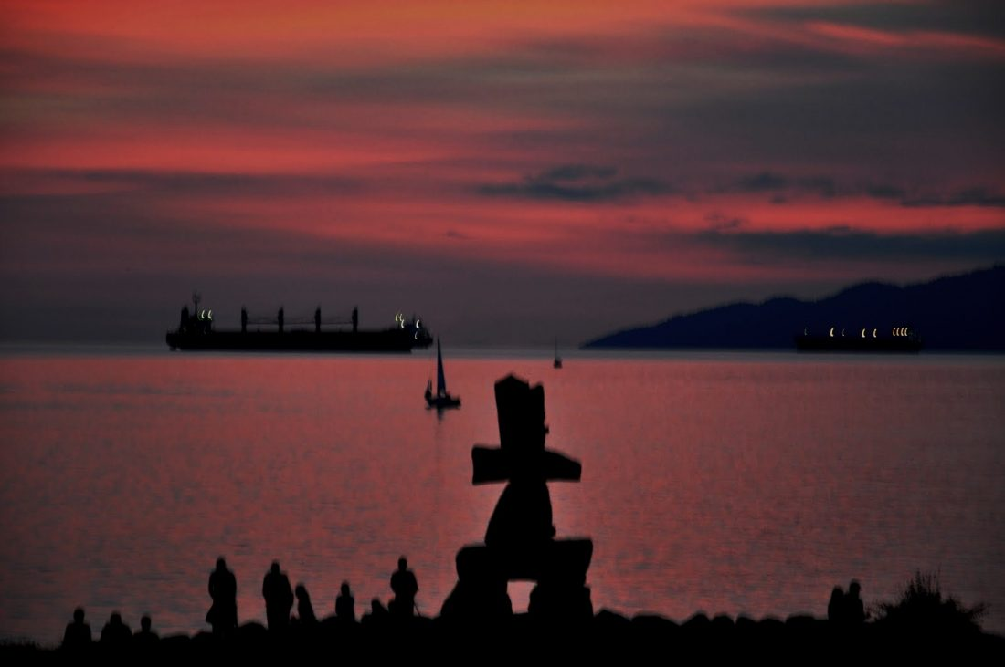 Vancouver English Bay (Inukshuk structure)