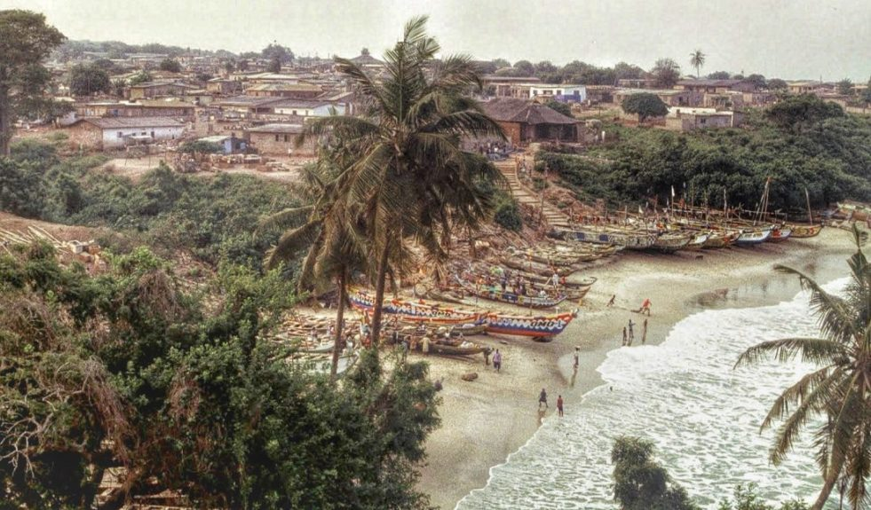 Ghana : Senya Bereku view from fort Good Hope