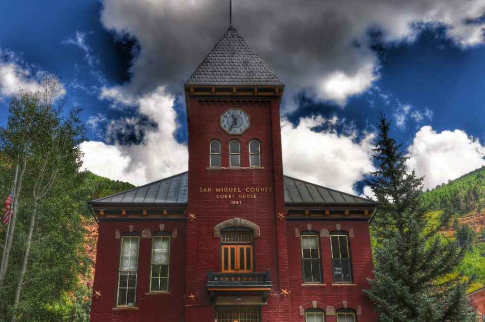 Colorado : Tellurides Court House