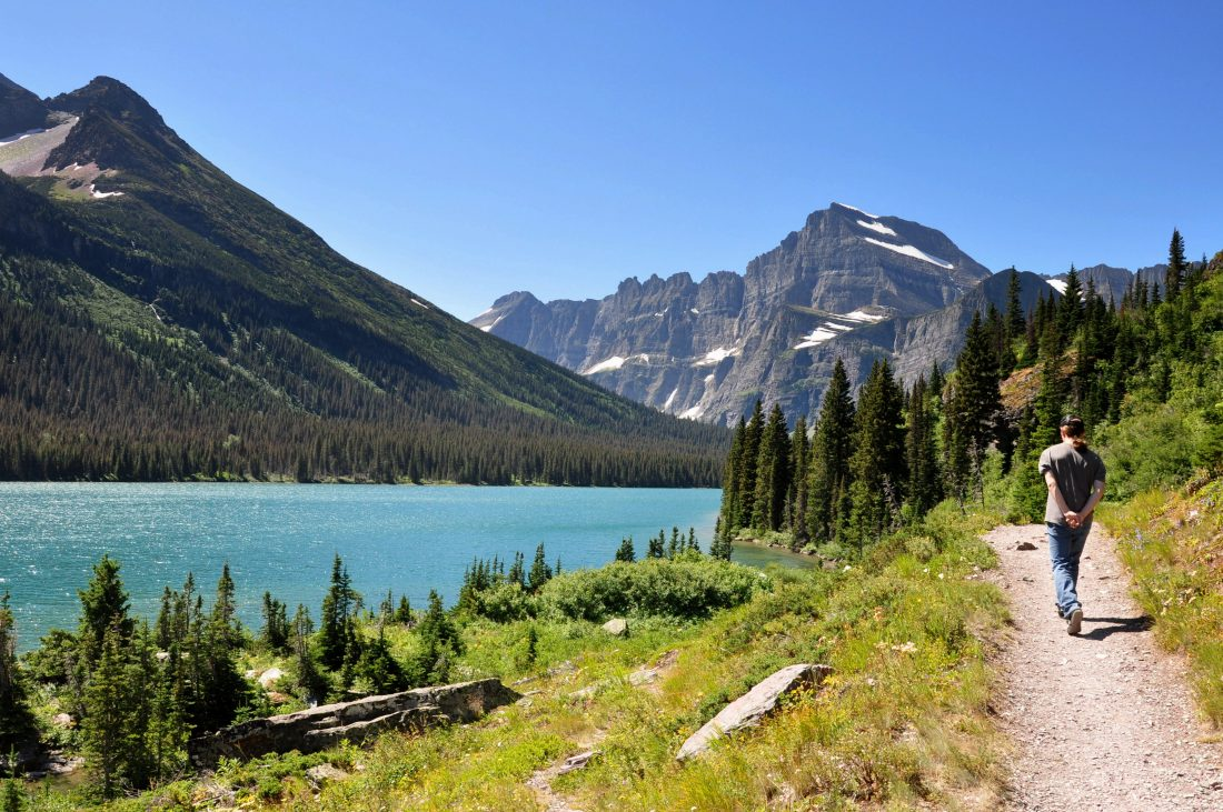 Grinnell Lake Trail : Josephine Lake