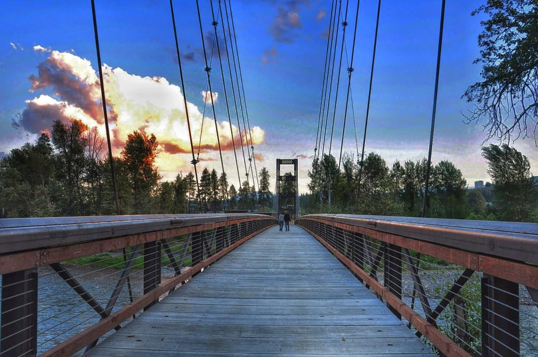 Washington state Winthrop Meadow River