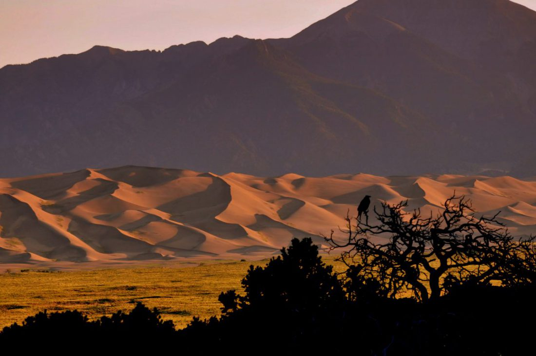 Colorado : View from the Great Sand Dunes Lodge