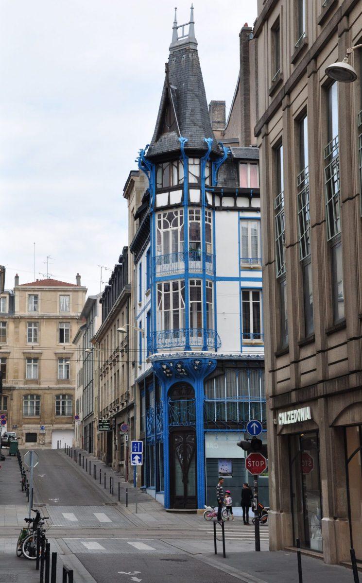 Nancy Art Nouveau : graineterie Génin rue Bénit