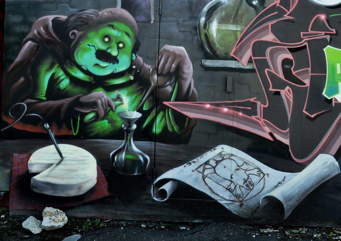 Nancy Street Art :voie ferrée saint-Georges (Moulin Crew)