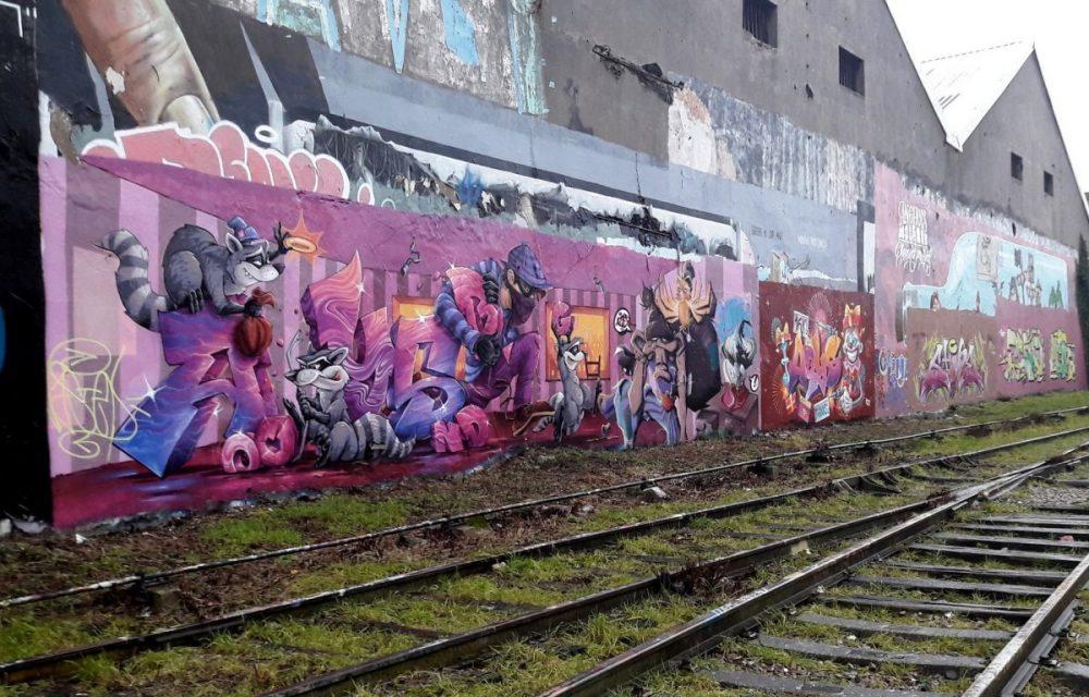 Nancy Street Art : voie ferrée saint-Georges (Abys) Batiment rasé mai 2018