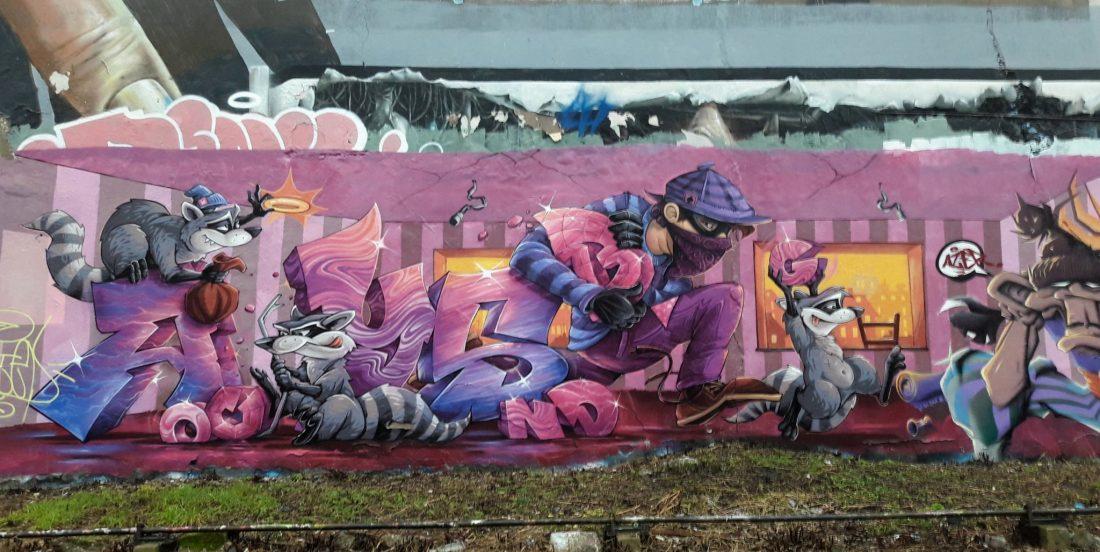 Nancy Street Art : voie ferrée saint-Georges (Abys)