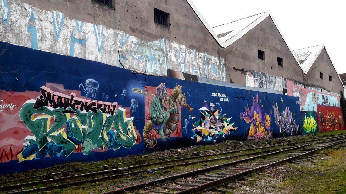 Nancy Street Art : voie ferrée saint-Georges Batiment rasé mai 2018