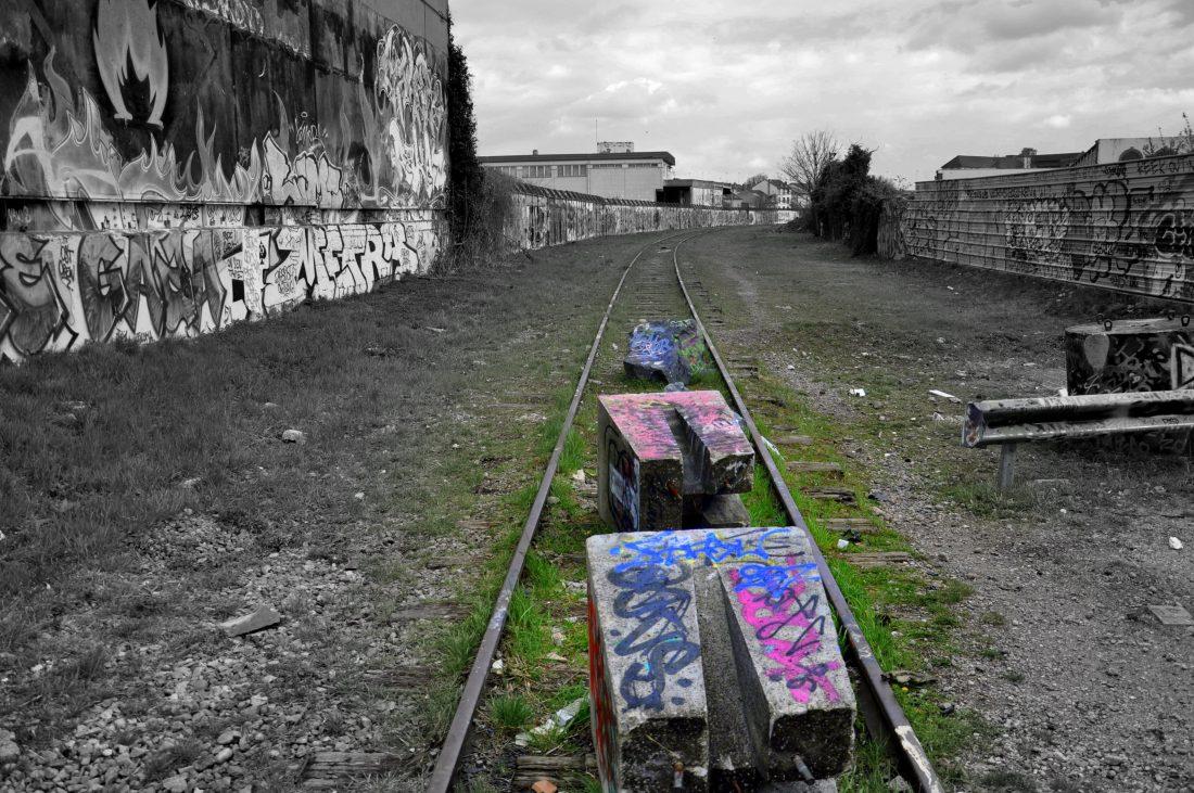 Nancy Street Art :voie ferrée saint-Georges