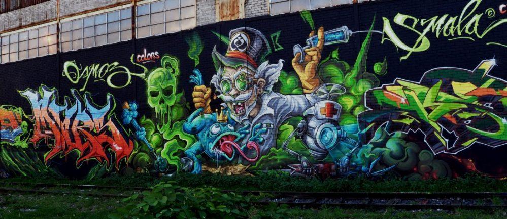 Nancy Street Art : Chemin de Malzéville (Abys Osmoz Colours)
