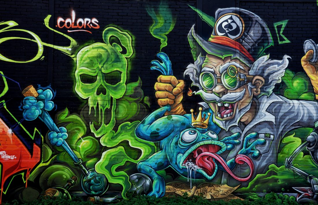 Nancy Street Art : Chemin de Malzéville (Abys Osmoz Colours )