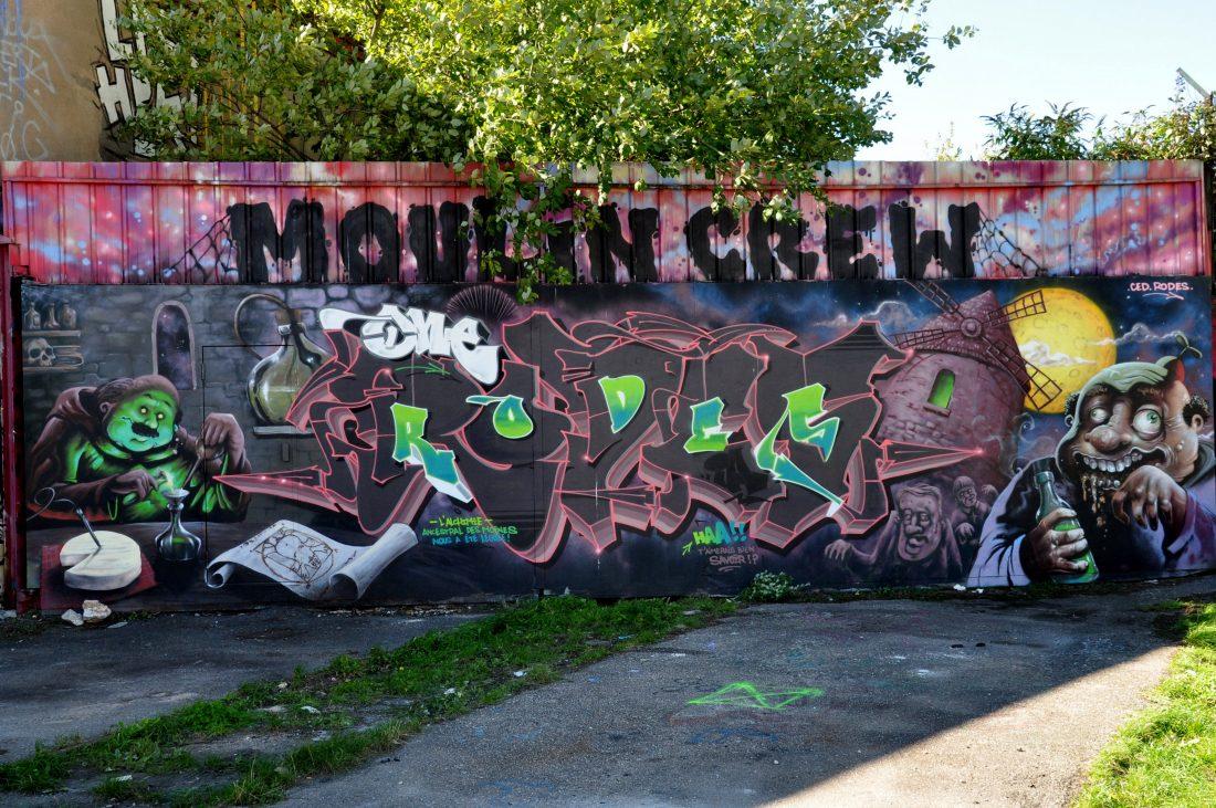 Nancy Street Art : voie ferrée saint-Georges (Moulin Crew)