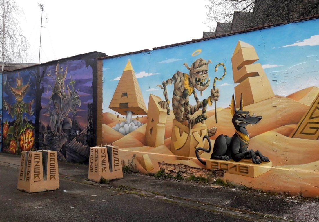 Nancy Street Art : Chemin de Malzéville (Abys in Egypt)
