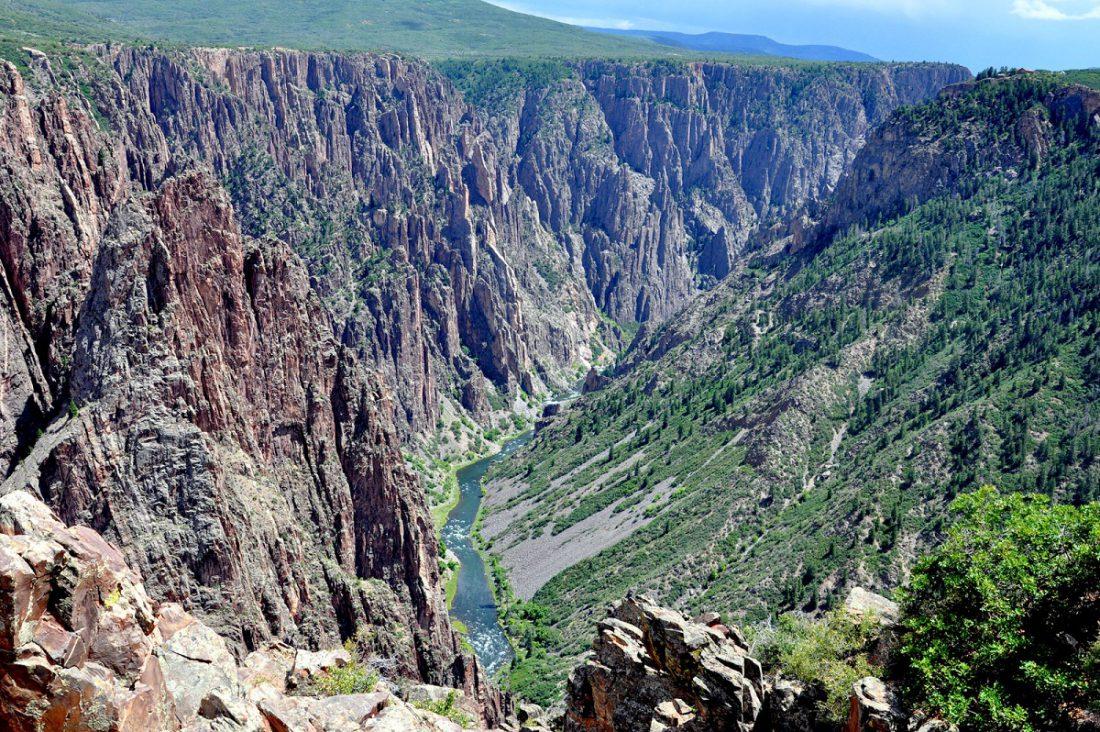 Colorado Black Canyon : Pulpit Rock overlook
