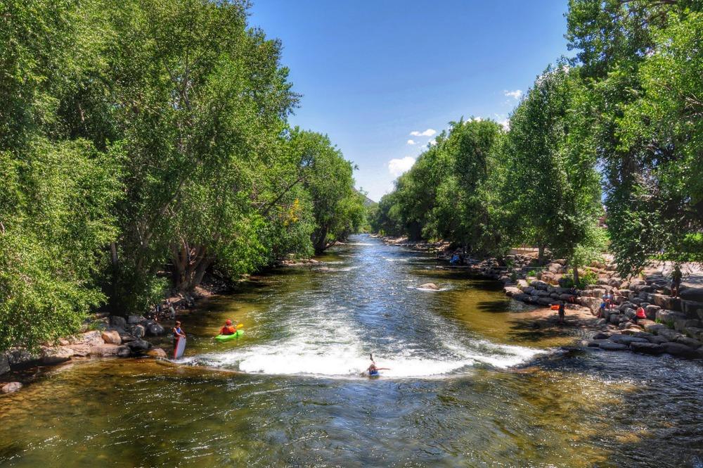 Salida downtown : Arkansas River