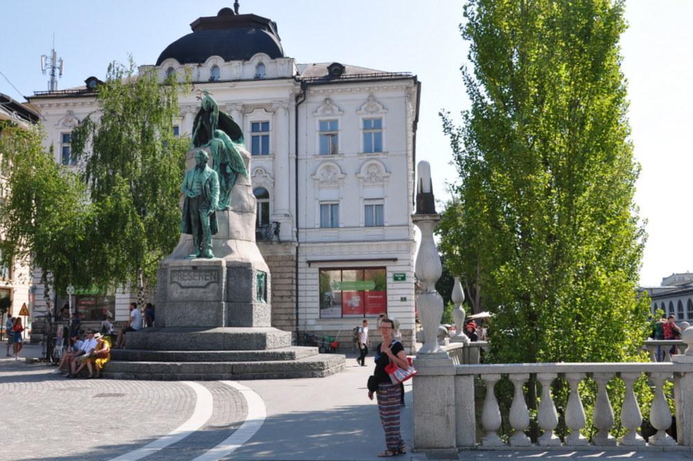 Ljubljana :place Prešeren