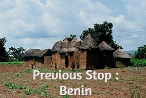 Previous stop : Benin