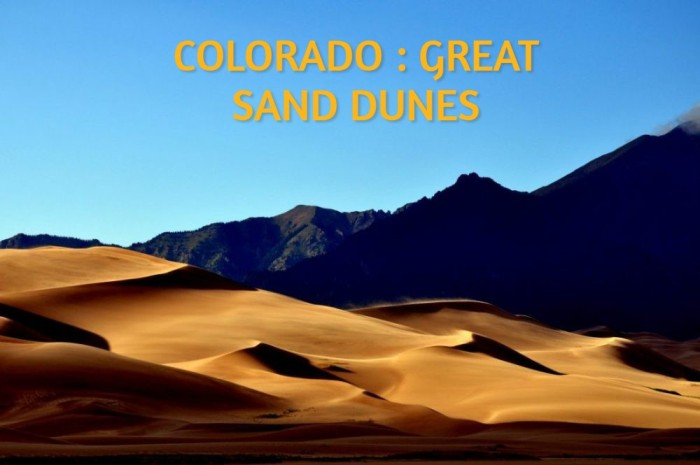 COLORADO : GREAT SAND DUNES
