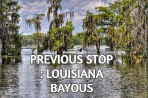 PREVIOUS STOP : LOUISIANA BAYOUS