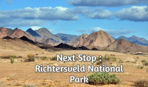 Next Stop : Richtersveld National Park